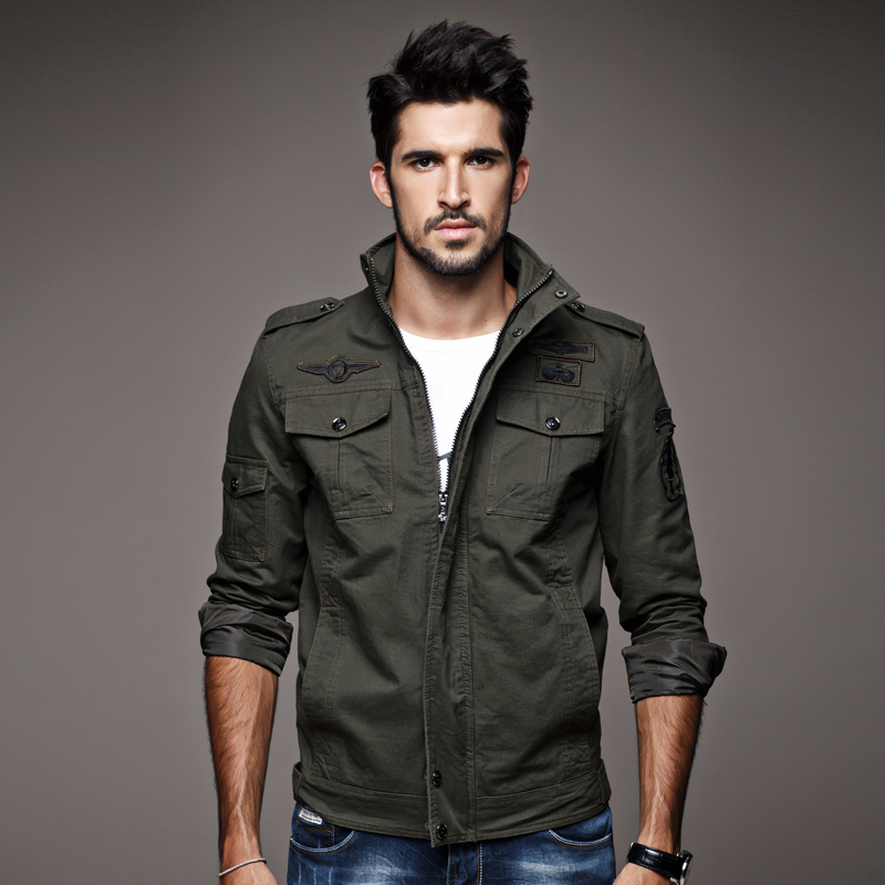 Popular Cotton Military Jacket Men-Buy Cheap Cotton Military