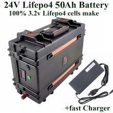 24V 50AH LiFePO4 Батарея пакет 1500W 24v 50ah Электрический велосипед Скутер водонепроницаемый чехол ЖК-дисплей дисплей костюм чехол Сверхдолгий срок службы+ зарядное устройство