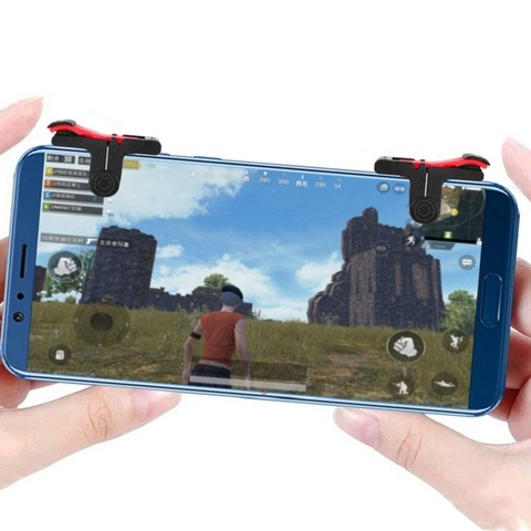 Mobile Game Controller Gamepad plasticL1R1 Mobile Phone Joystick Sensitive Shoot and Aim Triggers for PUBG/Knives Out/Rules of S Pakistan