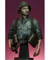 1/9 Uncolor soldier with machine bust toy Resin Model Miniature Kit unassembly Unpainted