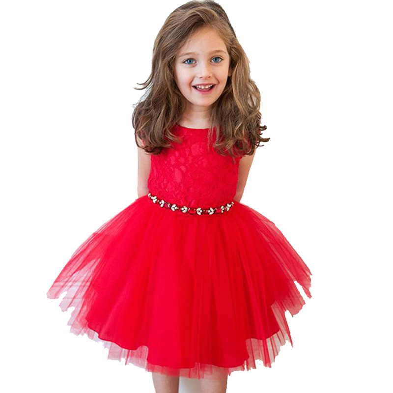 Christmas Dress For Girl Clothing Red Lace Children Dresses Baby TuTu Dress Hollow Girls Princess Dress Kids Clothes lace red girls dress rose tutu dress for wedding clothes with bow knot infant girls clothes white light pink baby clothing 2017