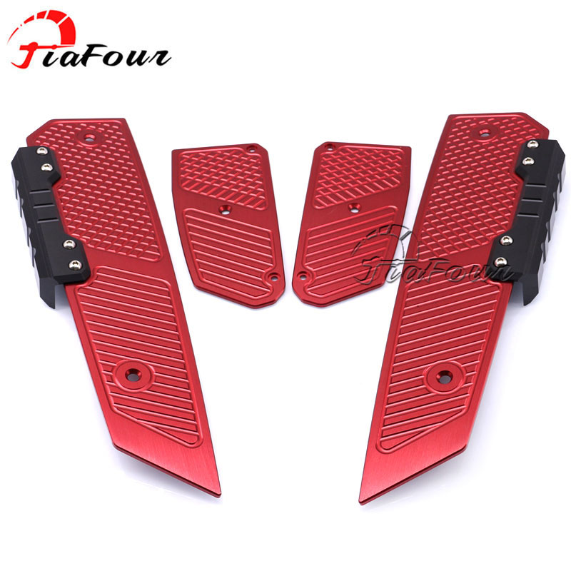 footrest footboard For HONDA Forza 125 Forza 300 2018 motocross accessories footrest footboard step autobike foot plate for yamaha n max 155 nmax 155 n max 155 2015 2016 motocross accessories footrest motorcycle footboard step autobike foot plate