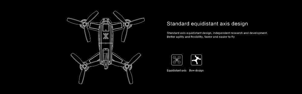 Tovsto Falcon 210 RTF 210mm 6CH 5.8G FPV Racing 540TVL HD Camera RC Racer Quadcopter Drone Black