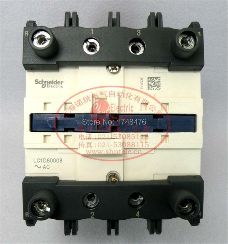ФОТО TeSys D Contactor 4P 125A LC1D80008 LC1D80008U7  LC1-D80008U7 240V AC