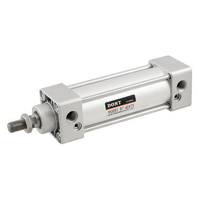 40mm Bore 75mm Stroke Stainless Steel Mini Pneumatic Air Cylinder Qjgqa  Free Shipping air cylinder cdg1bn50 75 pneumatic cylinder 10pcs sets free shipping