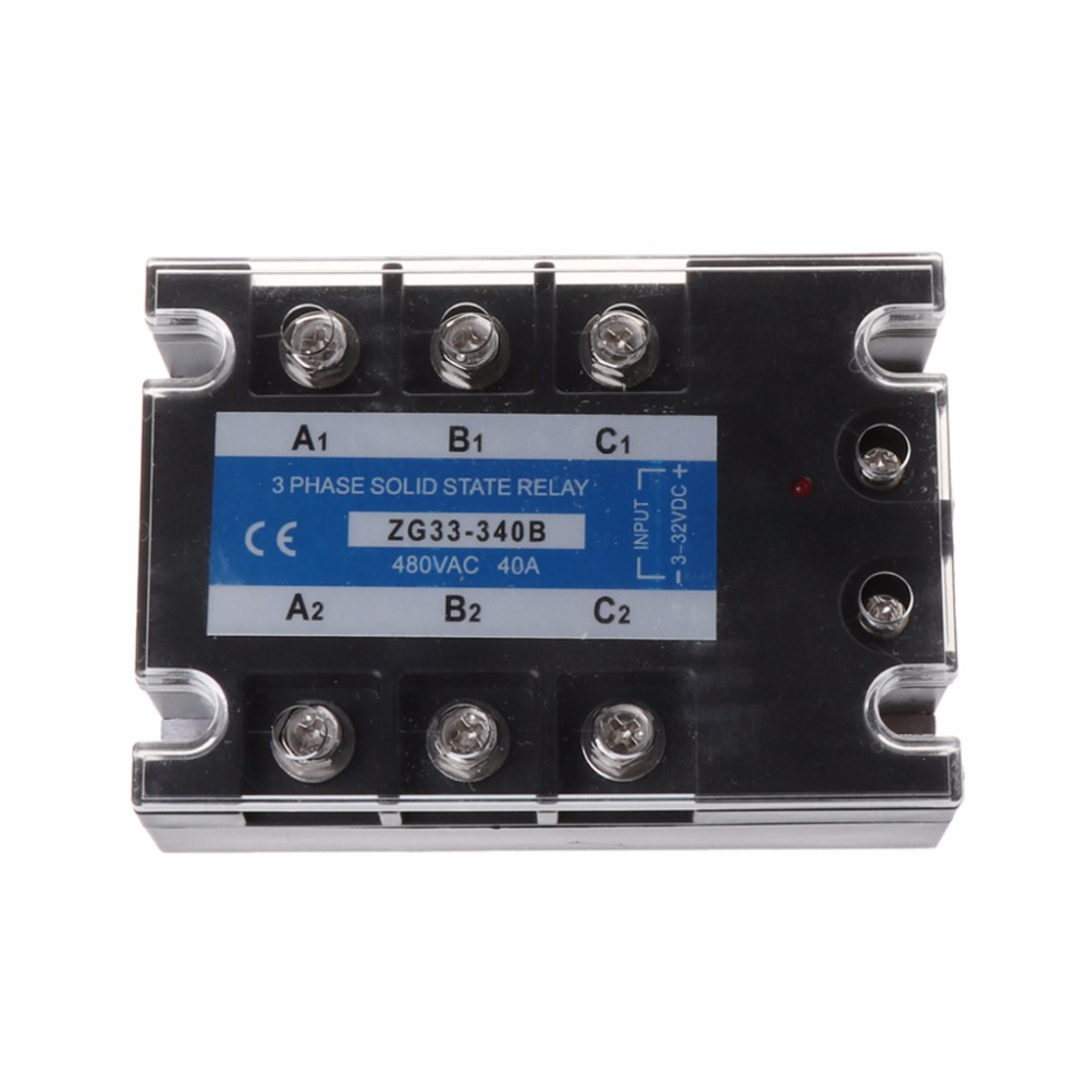 ZG33-340B 40A DC Control AC Three Phase Solid State Relay SSR Module free shipping mager 10pcs lot ssr mgr 1 d4825 25a dc ac us single phase solid state relay 220v ssr dc control ac dc ac