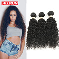 Allrun Волосы 7А Бразильский Девственные Волосы Вода Волна Влажного И волнистые Девственницы Бразильские Волос 4 Связки Вьющиеся Переплетения Человеческих Волос расширение