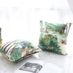 Image 4 - 1PC Home Decoration Cushion Cover Plant Forest Throw Pillowcase Retro Pillowcases Comfortable Pillow Cover Sofa Bedroom