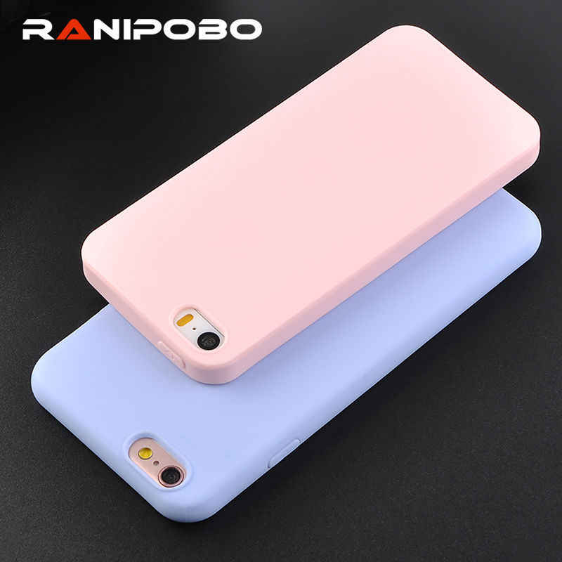 Hot Ultra thin Candy Color Silicon Phone Case For iPhone X 6 6S Plus 7 7Plus 5 5S SE Fashion Soft TPU Full Protection Back Cover