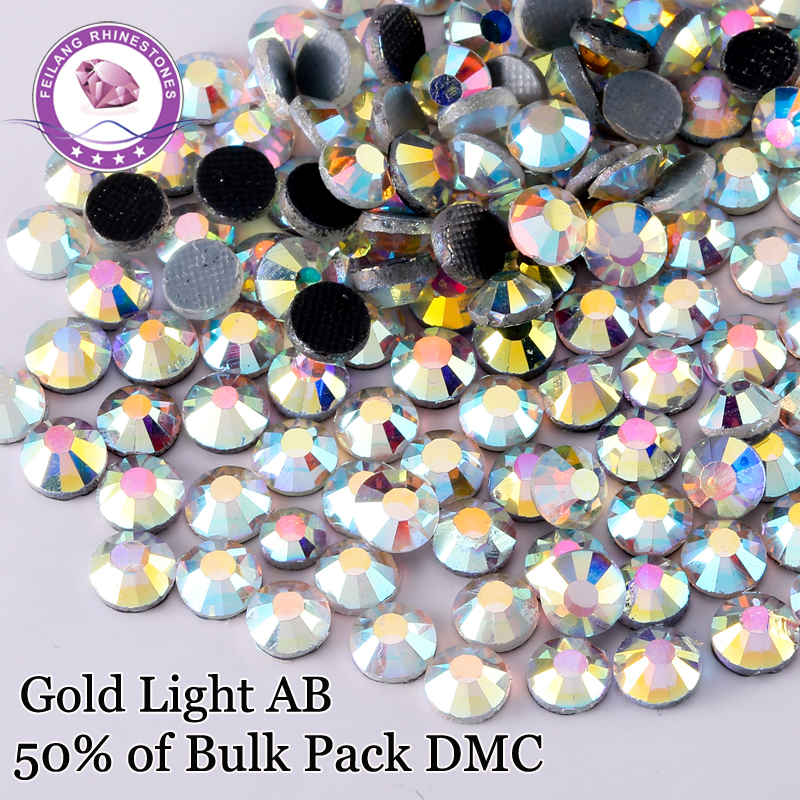 Shiny Crystal AB Wholesale Hotfix Rhinestones SS6-SS30 50% Bulk Glass Stones Correction Dress Strass Decoration DIY Clothing