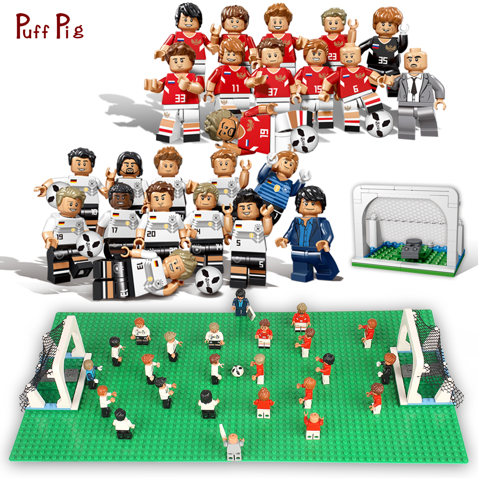 Football Players Toys For Toddlers : Pcs world football team soccer player figures building