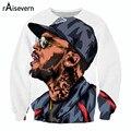 Raisevern nova moda camisolas dos desenhos animados 3D Chris Brown impresso casaco com capuz tops homem de fitness ocasional outerwear plus size roupas 3d