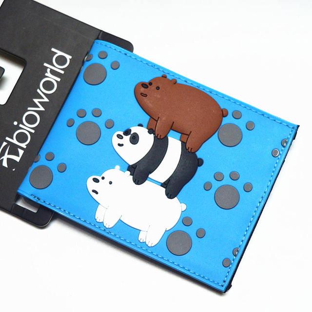 .Cartoon Wallet Credit Card Zipper Bag Short Wallet We Naked Bear Venom God of War Overwatch