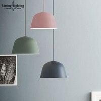 Hat Simple Macaron Color Pendant Lamp Lights Kitchen Island Dining Living Room Shop Decoration Pendant Lights Kitchen Light