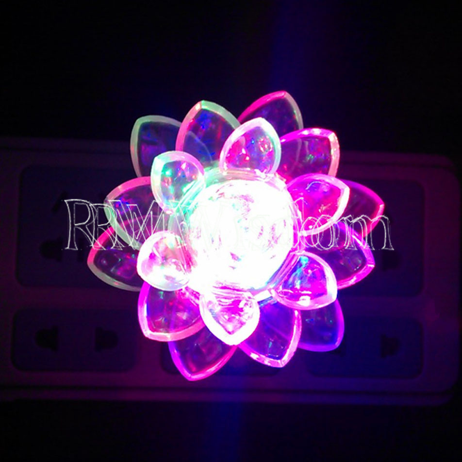 Color Changing LED Lotus Flower Romantic Mood Lamp Night ...