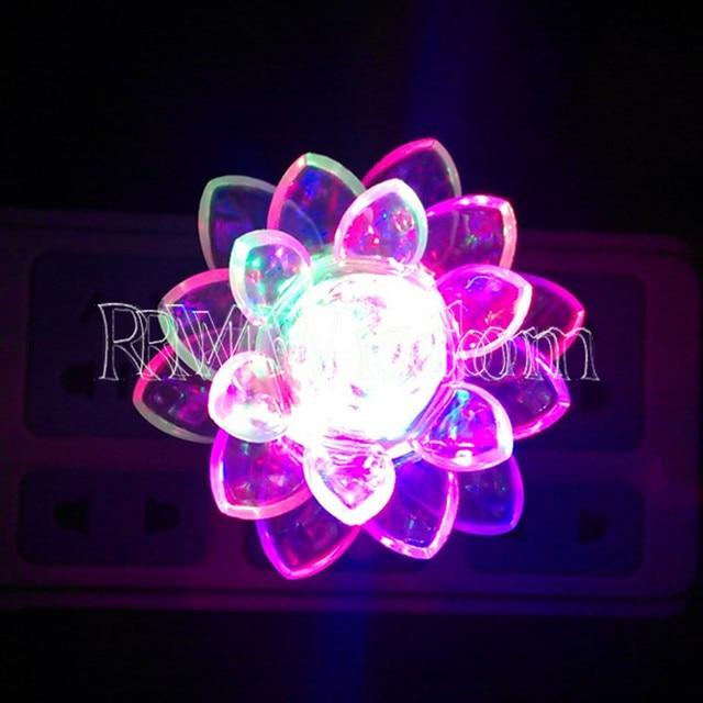 Color Changing LED Lotus Flower Romantic Mood Lamp Night Light Bedroom Light  Childrenu0027s Light Home Decorate Light 1pcs
