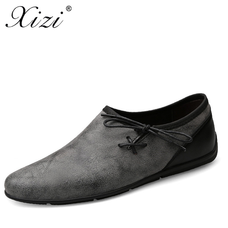 1de555a249c XIZI Men Leather Sneakers Shoes Mens Casual Loafers Summer Moccasins Male  Shoes Fashion for Driving Sapato