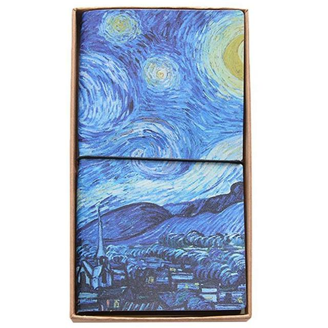 vincent van gogh composition book blank ruled lined writing and journaling paper notebook starry night artist quote journal