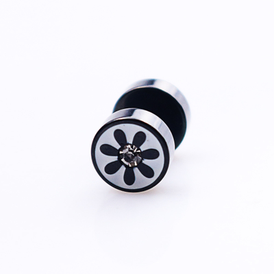 wholesale 2PCS>1Pair Jewelry for women Men Earring Earrings Stainless Steel Tunnel Plug with Carbon Fiber Body Piercing Jewelry