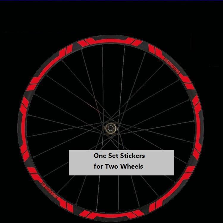 Two Wheels Sticker Set  for SHIMANO 776 Mountain Bike Bicycle Rim MTB Cycling