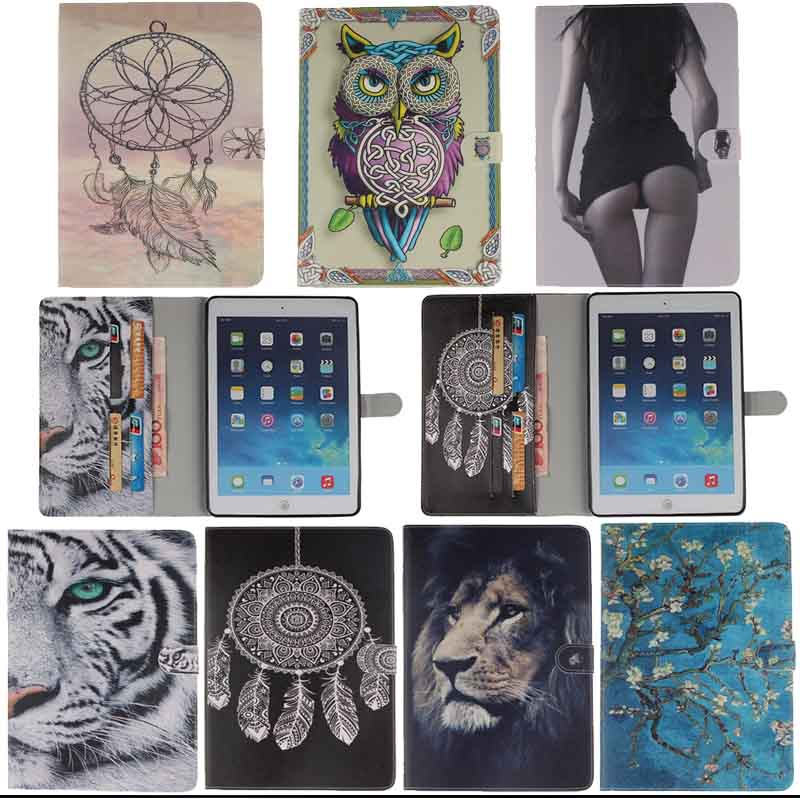 Fashion Tiger lion Painted Flip PU Leather Case cover For Apple iPad Mini 1 2 3 With Stand Tablets & e-Books Cases Y4d33D