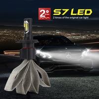 Auto Care 2PCS 36W 4000LM COB Car LED Headlight Kit H4 High Low Beam H4 3