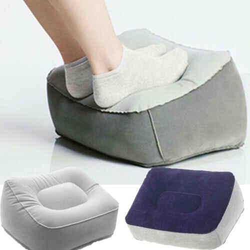 Inflatable Foot Rest เบาะรองนั่งหมอน Air Travel Office Home ขา Up เท้าผ่อนคลายเบาะเท้าหมอน