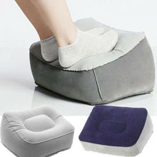 Inflatable Foot Rest Pillow Cushion Air Travel Office Home Leg Up Footrest Relax