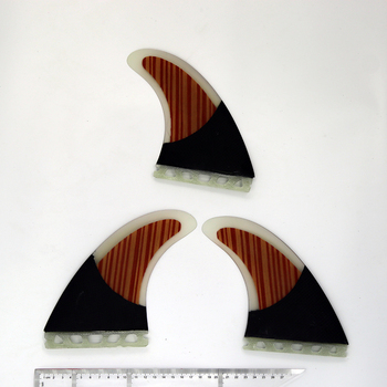Wood Veneer And Carbon Fiber Future G7 Surfboard Fins - Tri Fin Thruster Set Future Large Size Future fins shortboard фото
