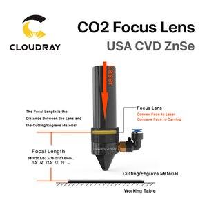 """Image 2 - Фокусная линза Cloudray USA CVD ZnSe, диаметр объектива. 12 мм FL 38,1/50,8 мм 1,5 """"/2"""" для CO2 лазерной гравировки, резки, бесплатная доставка"""