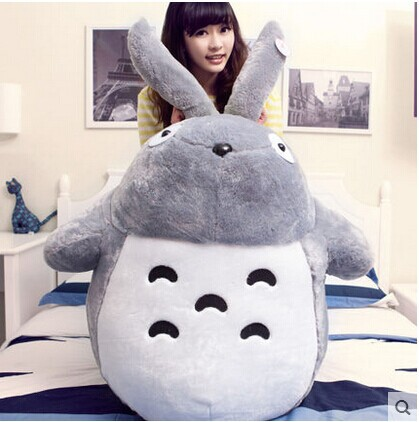 huge 125cm cartoon Hayao Miyazaki Totoro plush toy, Christmas gift w2156 hayao miyazaki totoro bag anime backpack school bags 2016 oxford cartoon book bookbag teenagers my neighbour totoro printed