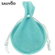 SAUVOO 10pcs/lot Small Velvet Drawstring Cotton Gifts Bag Pouches 7*9cm fit Necklace Bracelet Jewelry Package Presents Bags