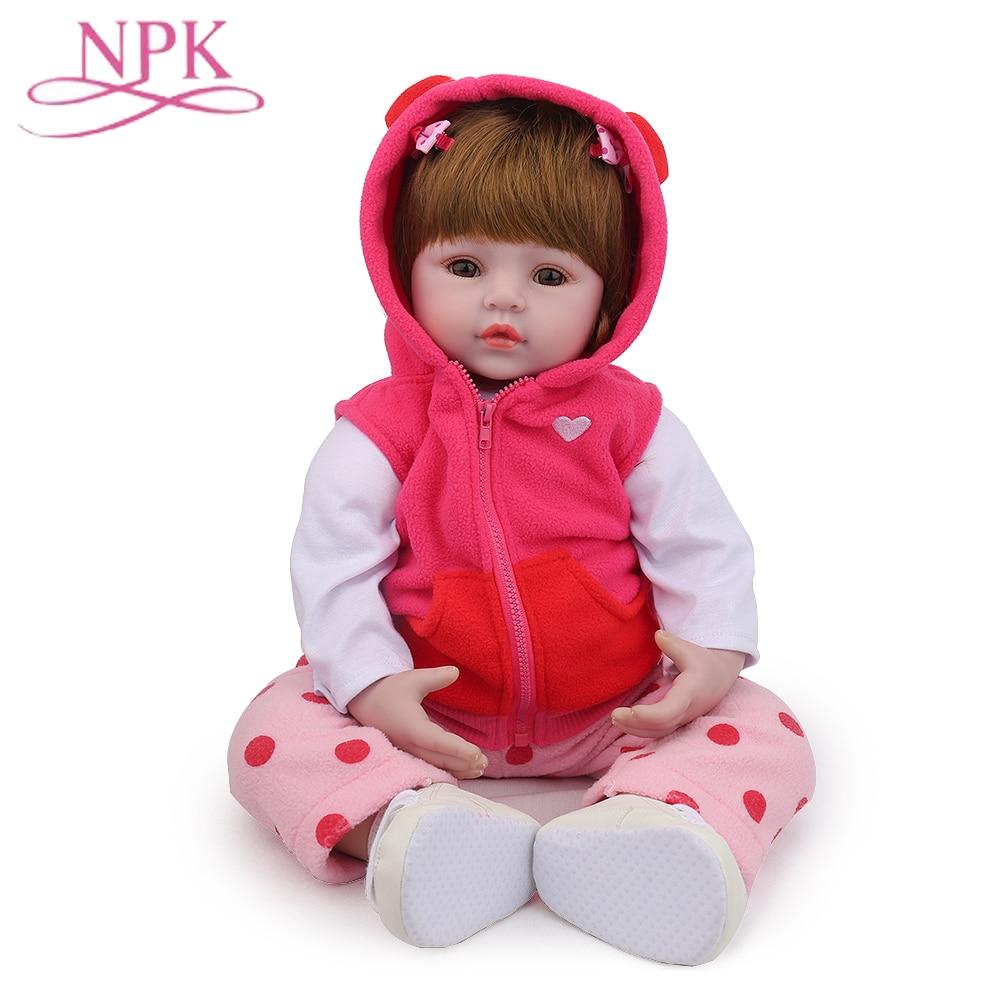 NPK Bebes Reborn Doll Lifelike Soft Silicone Reborn Baby Dolls Com Corpo De Silicone Menina Baby Dolls Christmas Gifts Lol Doll