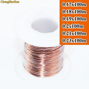 Image 1 - ChengHaoRan 0.17 0.18 0.19 0.2 0.21 0.23 ملليمتر x 100 متر QA 1 155 جديد البولي يوريثين بالمينا الأسلاك النحاسية سلك اللون الأساسي 100 متر