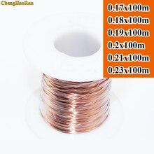 Chenghaoran 0.17 0.18 0.19 0.2 0.21 0.23mm x 100 m QA 1 155 새로운 폴리 우레탄 에나멜 와이어 구리 와이어 기본 색상 100 미터
