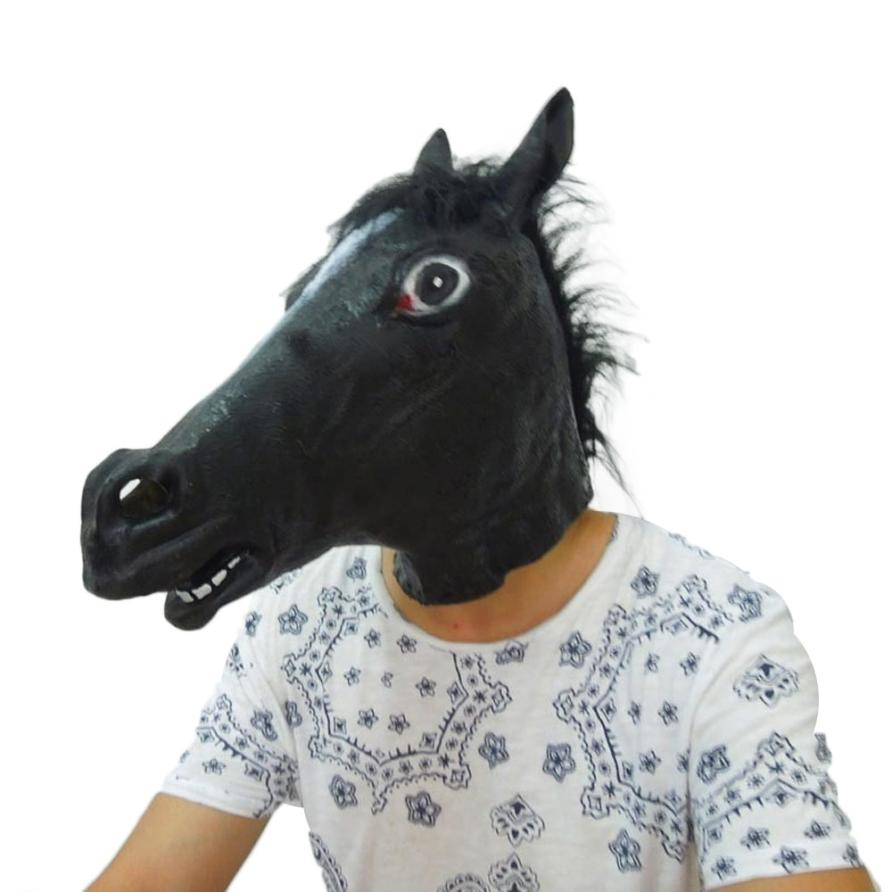 Hot Sale High quality Halloween Party Horse Latex One size fits most adult heads Halloween Supplies Dropshipping ...