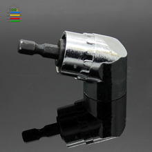 1/4″ Hex Magnetic Angle Bit Driver Adapter Screwdriver 105 Degree Adjustable Thumb Flange Off-Set Power Head Power Drill Driver