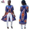 2016 Плюс размер dashiki рубашка Африканских одежды Традиционной Африканской печати Платье Базен Riche Топы Сплит Лето Печатных Блузки