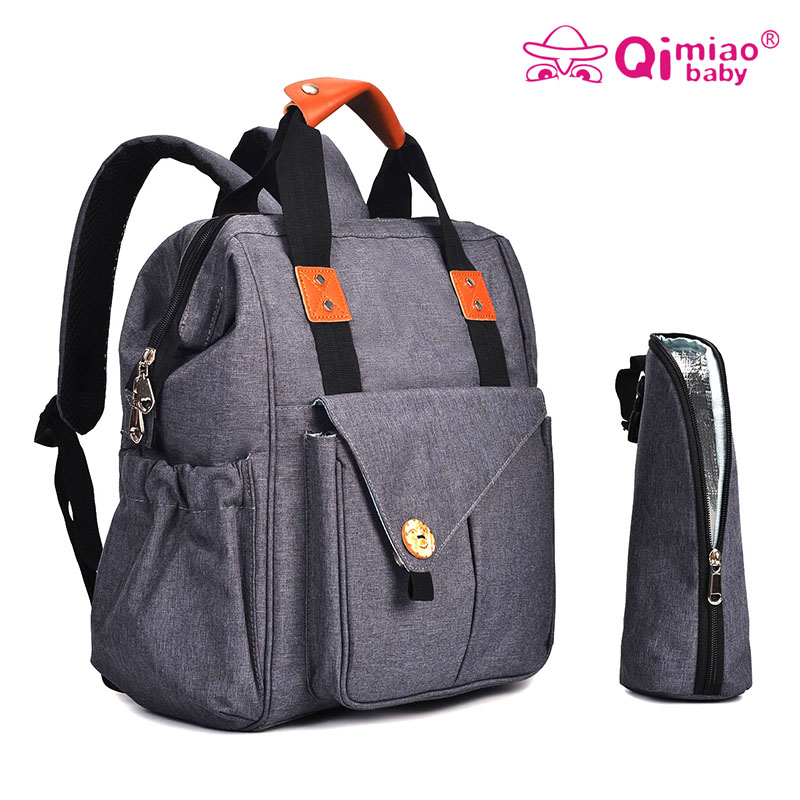 Qimiaobaby Fashion Mummy Maternity Bag Multi function Diaper Bag Backpack Nappy Baby Bag with Stroller Straps for Baby Care in Diaper Bags from Mother Kids