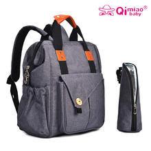 Купить с кэшбэком Qimiaobaby Fashion Mummy Maternity Bag Multi-function Diaper Bag Backpack Nappy Baby Bag with Stroller Straps for Baby Care