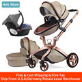 Hot Mom 3 em 1 Alta Terra-scape carrinho de Bebê Carrinho De Bebê com berço em 2019 Folding Carriage para Recém-nascidos bebê