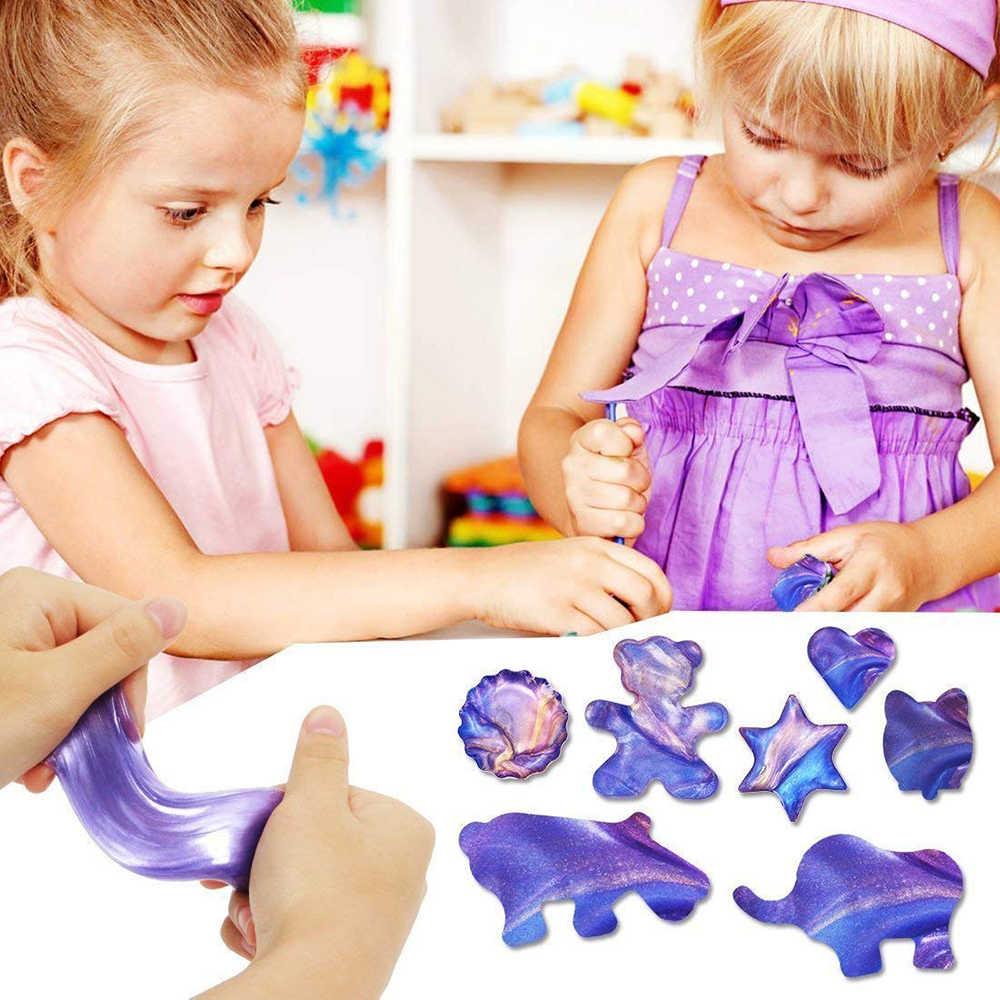 Слизистое яйцо хрустальные пушистые игрушки Лизун облако слизистый шар Клей мягкая глина антистрессовый свет Пластилин антистресс игрушки Детские принадлежности