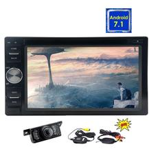 Wireless Rearview Camera + Android 7.1 Touch Screen Double din Stereo Auto Radio 8 Core Car Navigation Head Unit GPS Map Wifi