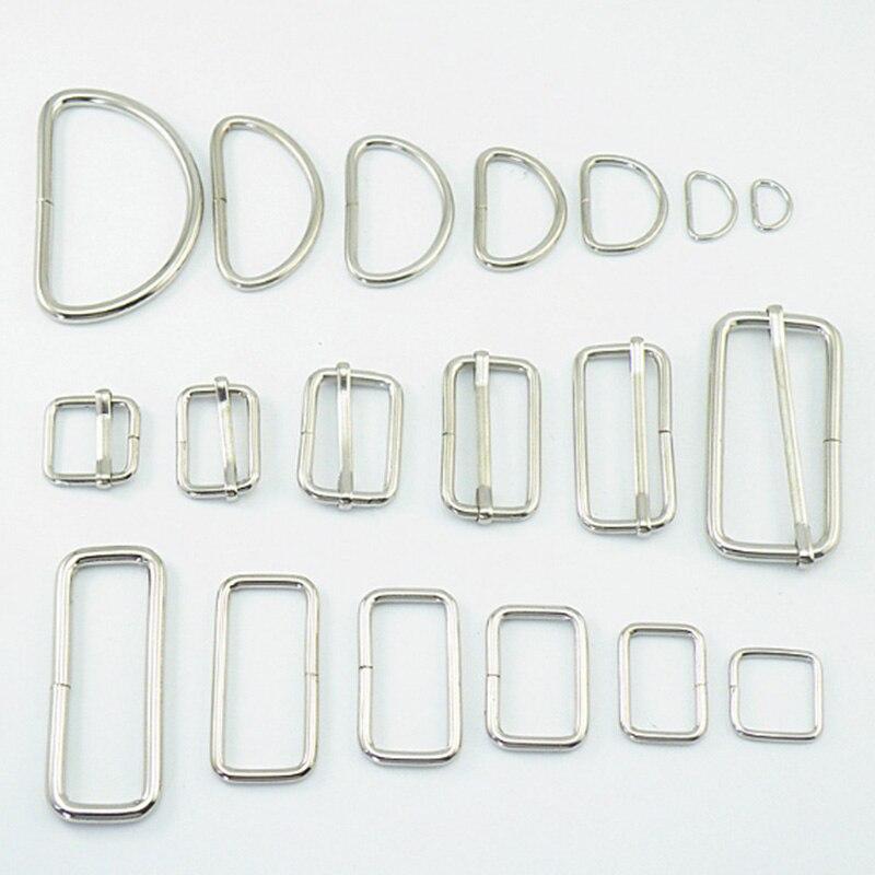 10 pçs lote Retângulo D Anel Cinto de Fivela Quadrada de Metal Ajustável  Para Mochilas df8d0816d07