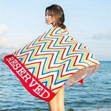 Microfiber Beach Towel Women Swimming Serviette De Plage Toalla Playa Letters Printed Bath Towels Home Textile 70*145cm