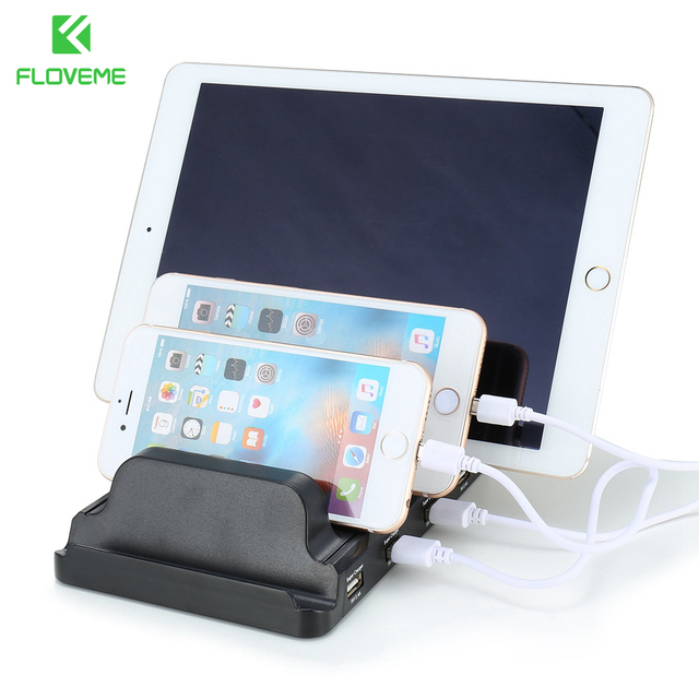 Floveme Usb Charging Station 4 Ports 2 4a Fast Charger Stand Bracket Quick