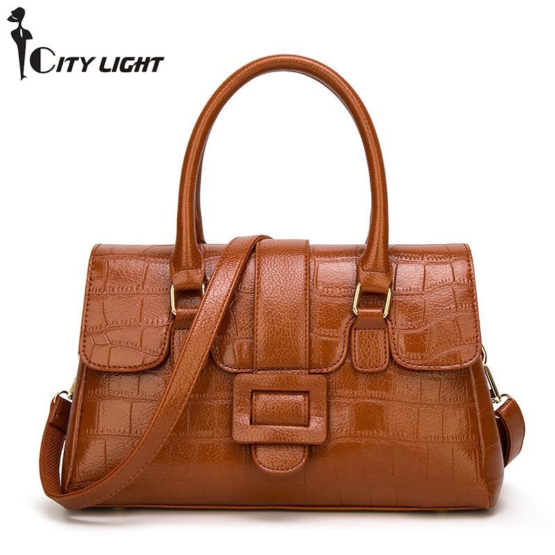 New Handbags Women PU Leather Shoulder Bag For Female Famous Brands Ladies Litchi Pattern Crossbody Bag Fashion Designer Handbag
