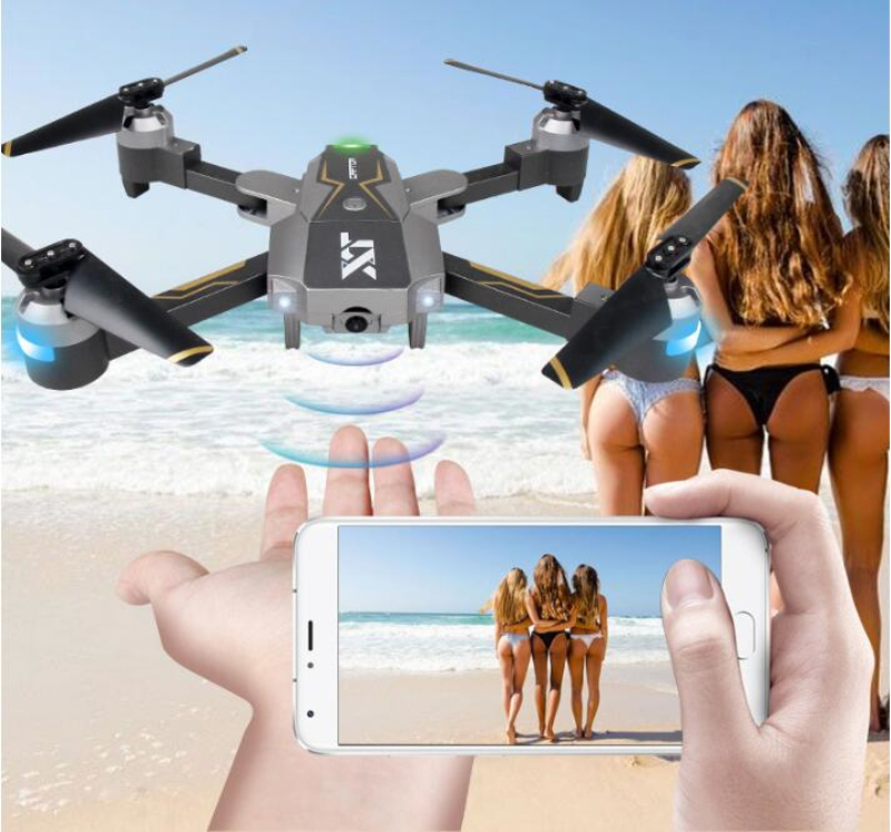 цена на WIFI FPV APP Control Altitude Hold Foldable RC Quadcopter Drone 1080P 720P HD Camera and Optical Flow Positioning Drone VS CG033