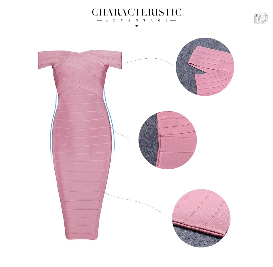 17 Summer Bandage Dress Women Short Sleeve Off Shoulder Celebrity Party Black Sexy Night Out Dress Women Wholesale Vestidos 6