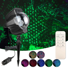 Christmas LED Projector Lights RGB Maple Leaf Effect Stage Light Snowfall Laser Waterproof Lamp For Halloween #